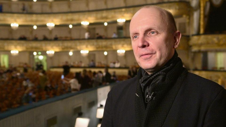 Yuri Fateev in the theater he directs.