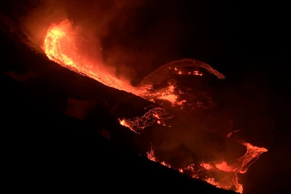 Volcano erupts on Hawaii's Big Island, produces steam cloud