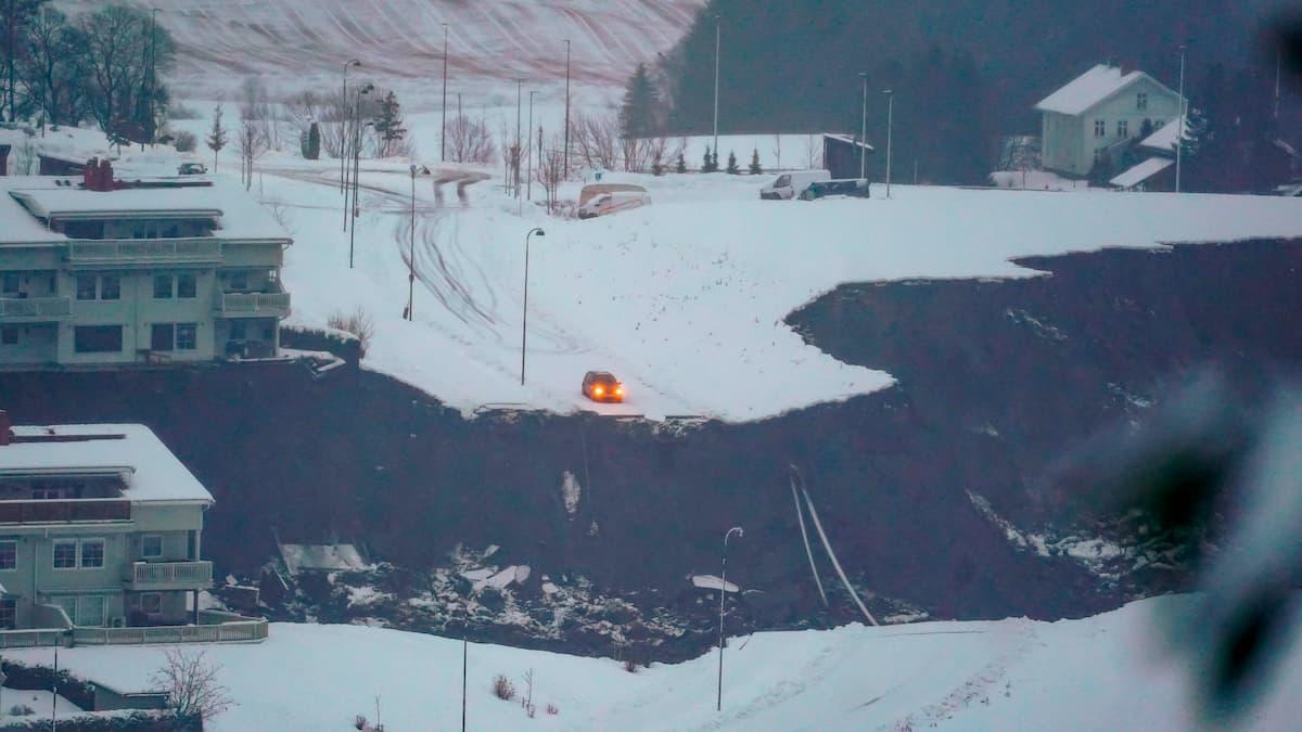 Several missing after landslide in Norway