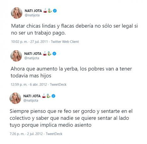 Some posts by Nati Jota between 2011 and 2012.