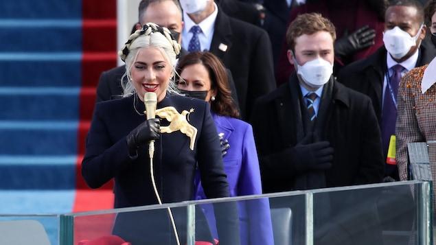Lady Gaga Sings the American National Anthem at Joe Biden's Inaugration