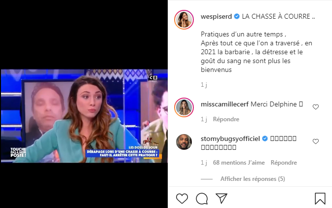 Delphine Wespiser moved in TPMP