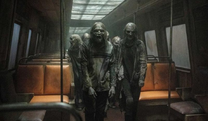 Zombies on a train in new photos from The Walking Dead season 11