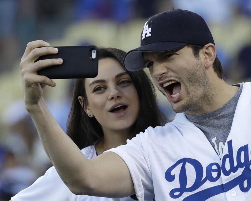Ashton Kutcher shared a sweet video with Mila Kunis on Instagram